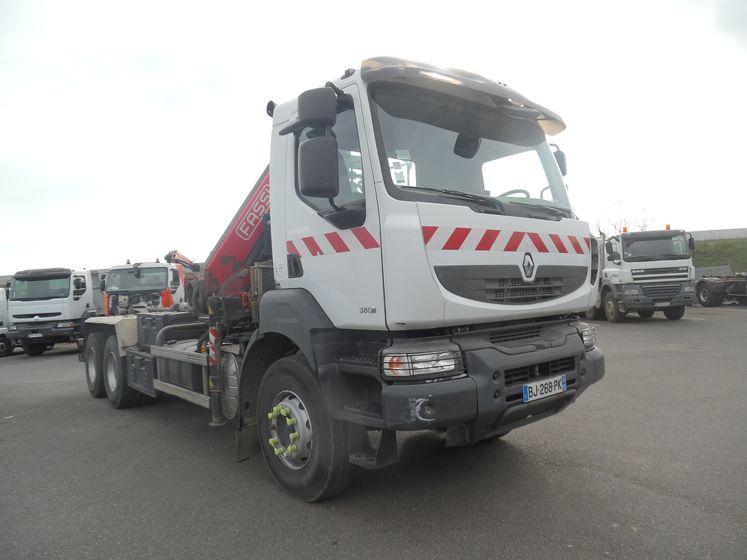 Renault vi KERAX 380 6×4 ampliroll grue